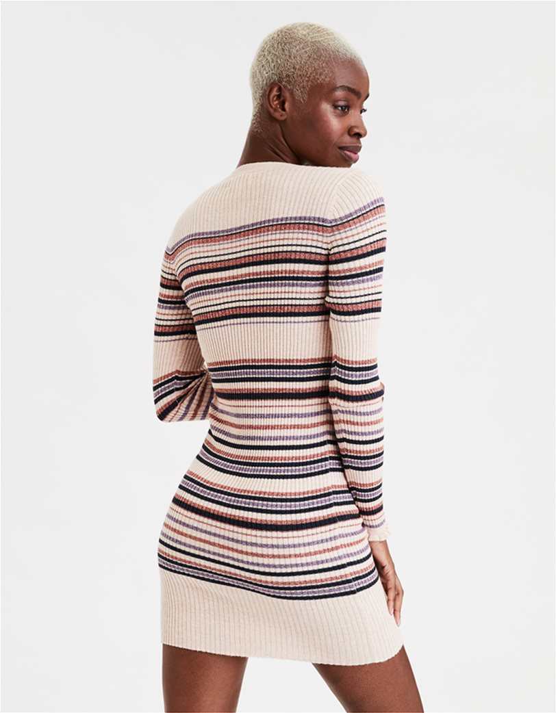 AE Striped Crew Neck Sweater Dress 1