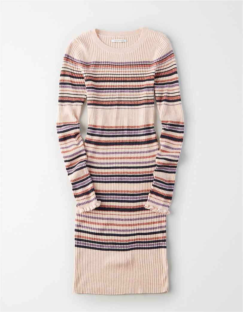 AE Striped Crew Neck Sweater Dress 2