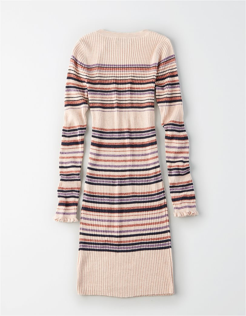 AE Striped Crew Neck Sweater Dress 3
