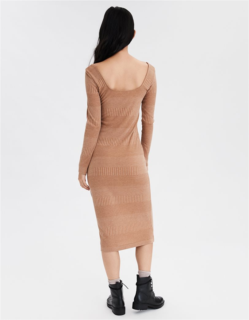 AE Knit Button Front Midi Dress 1