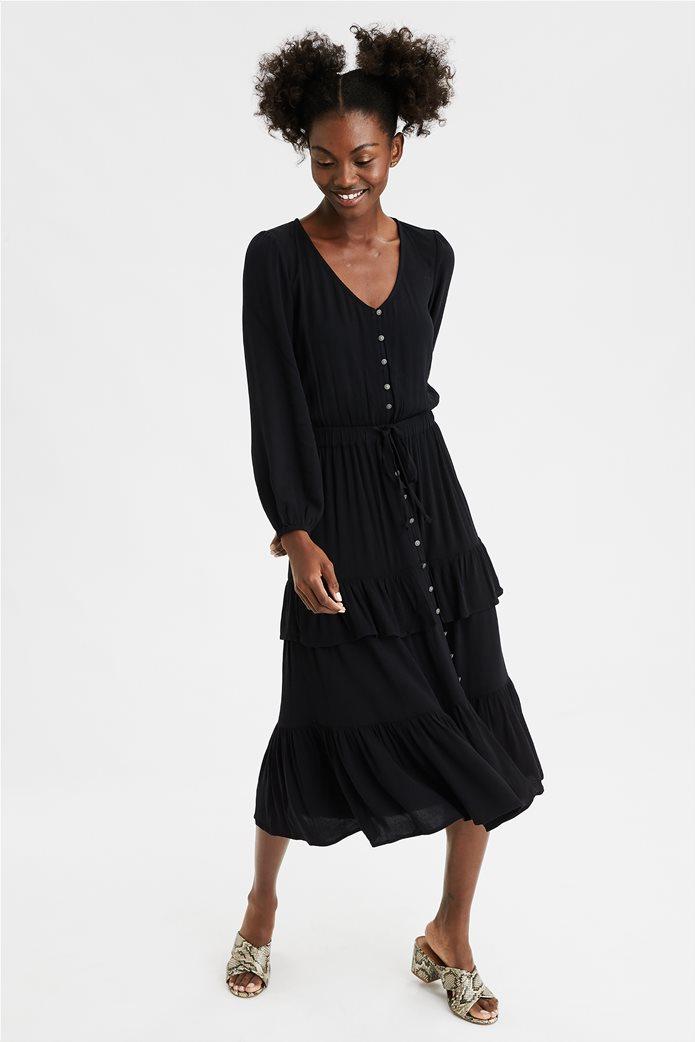 AE Tiered Midi Dress 0