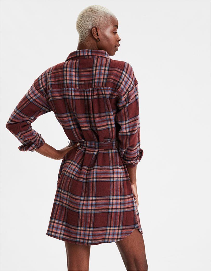 AE Plaid Long Sleeve Shirt Dress 1