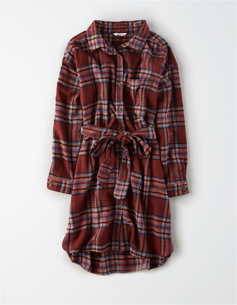AE Plaid Long Sleeve Shirt Dress 2