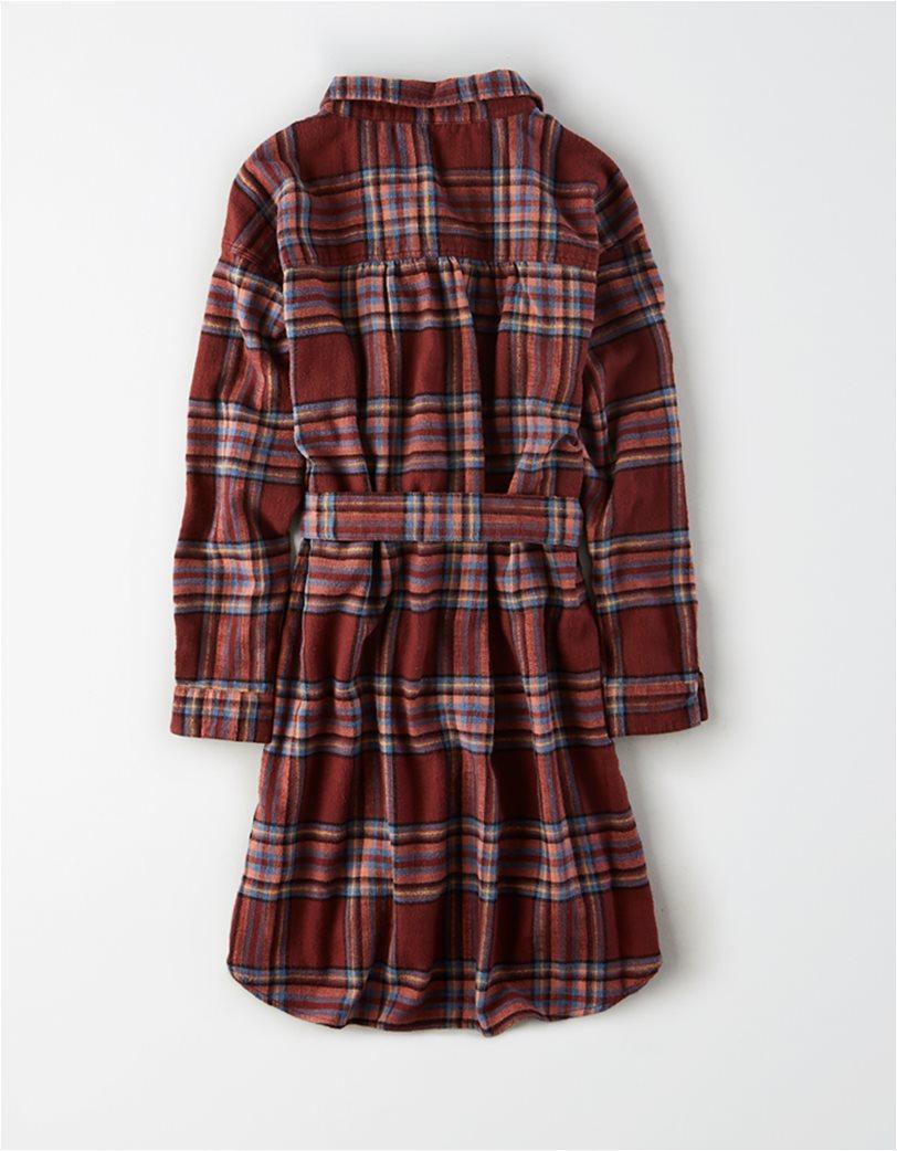 AE Plaid Long Sleeve Shirt Dress 3