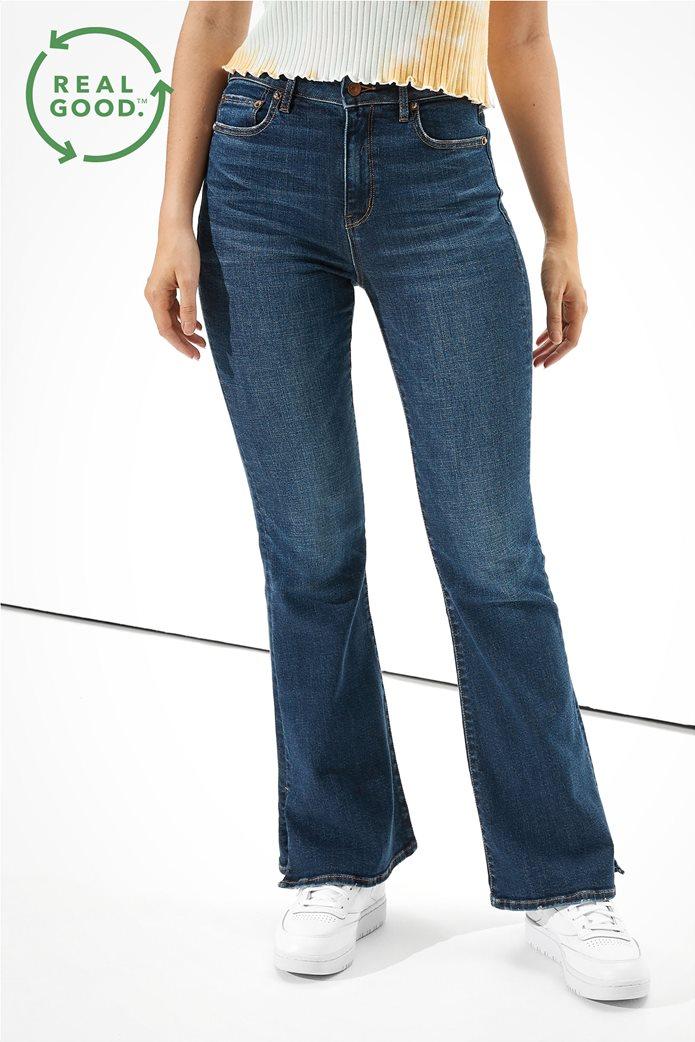 AE Super High-Waisted Split Hem Flare Jean 0