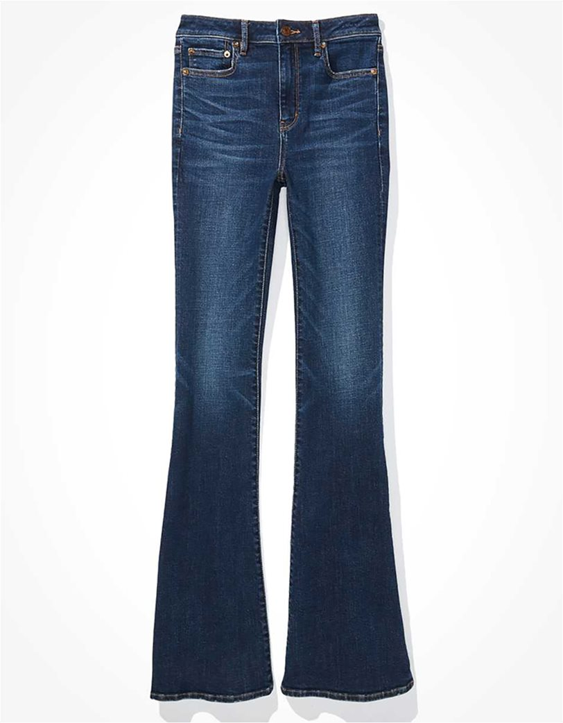 AE Super High-Waisted Split Hem Flare Jean 3