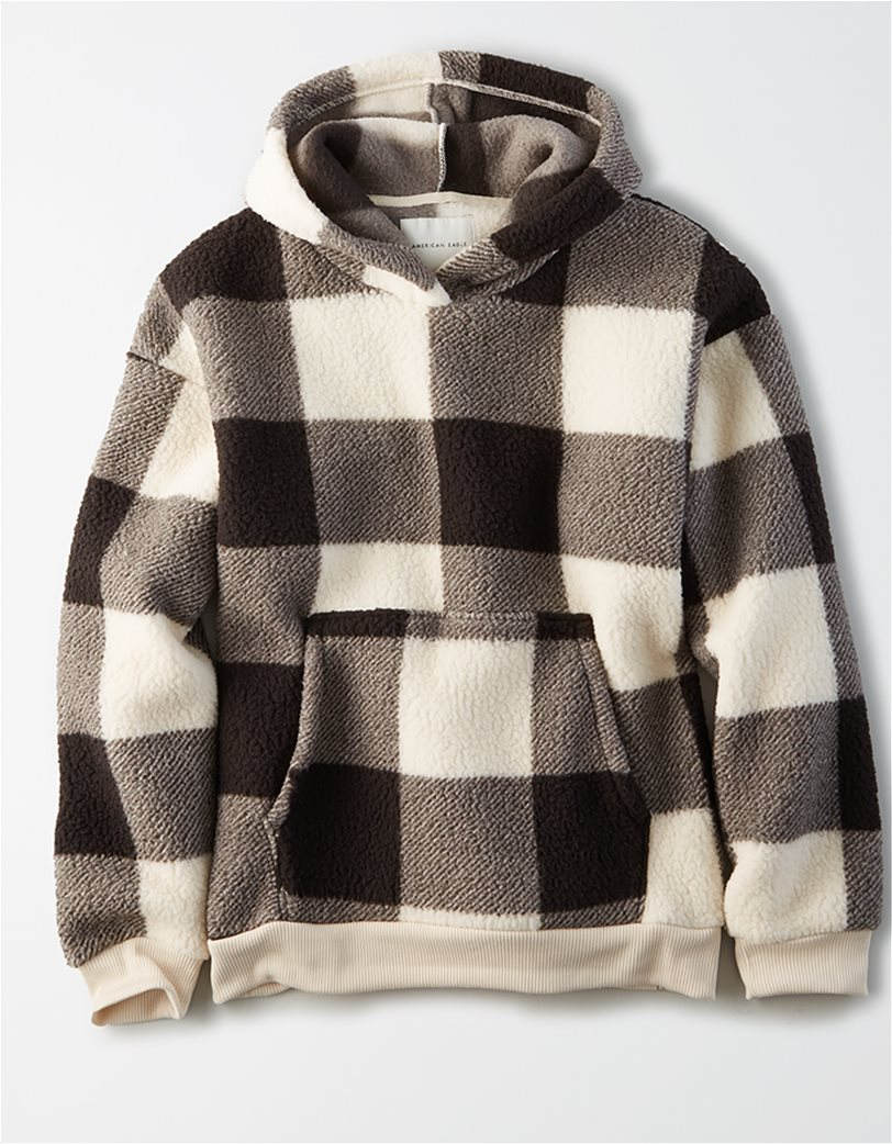 AE Fuzzy Sherpa Pullover Hoodie 2