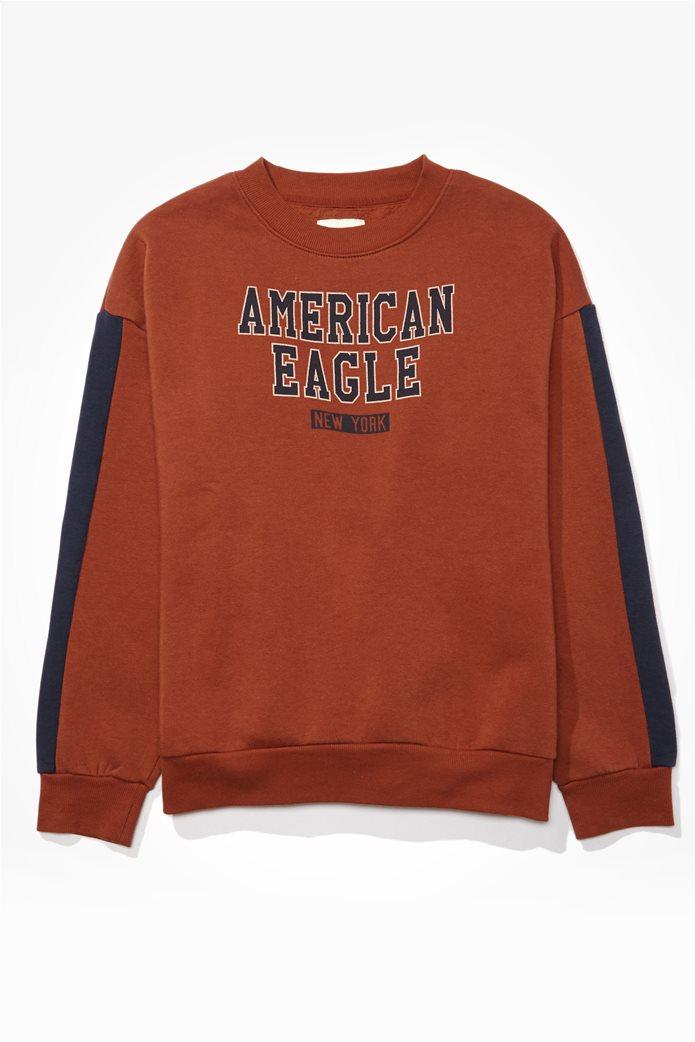 AE Fleece Graphic Crew Neck Sweatshirt 0