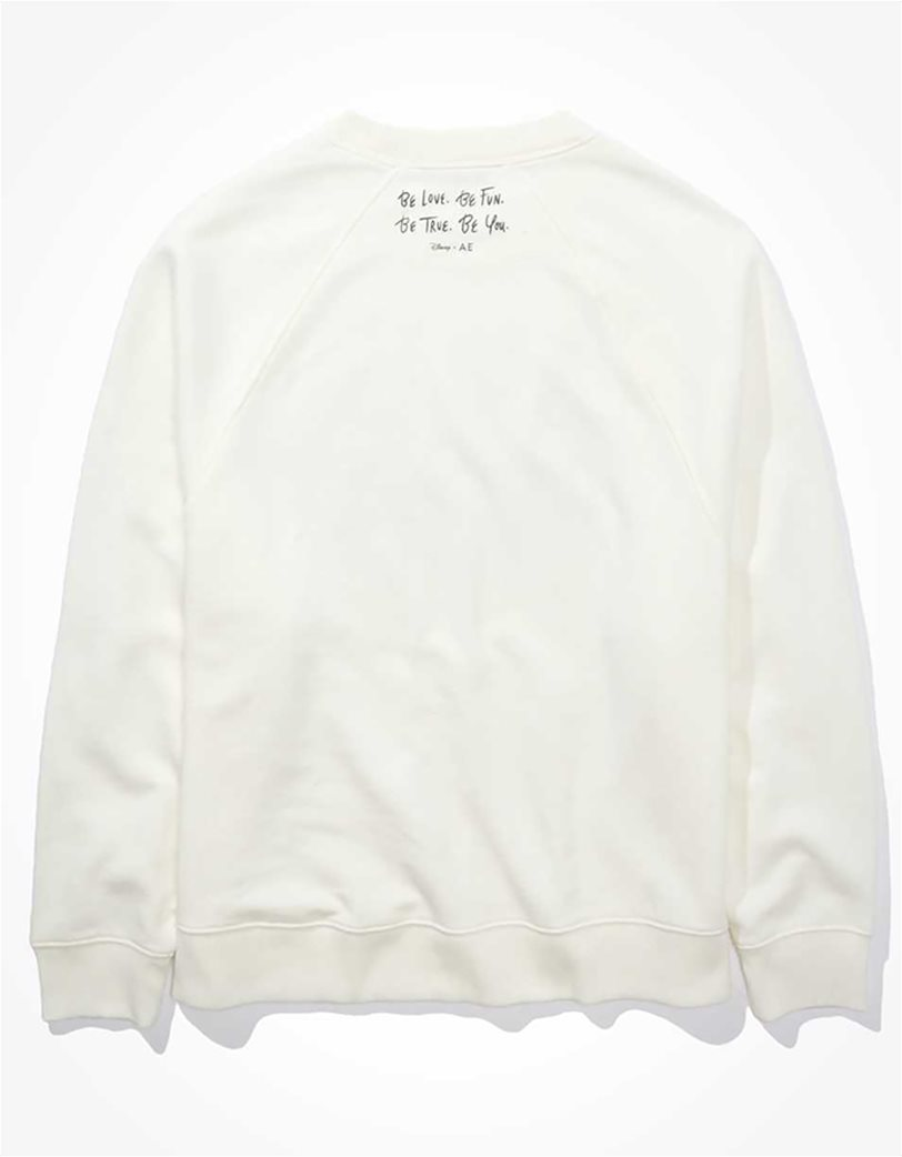 Disney X AE Fleece Crew Neck Sweatshirt Άσπρο 4