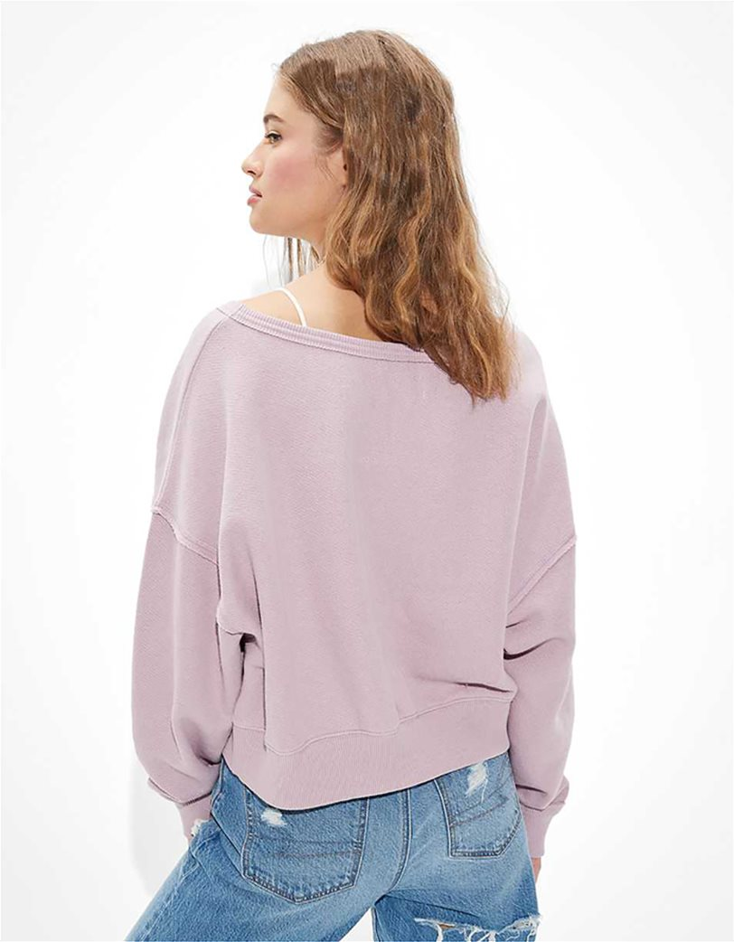 AE Forever Slouchy Cropped Crew Neck Sweatshirt 2