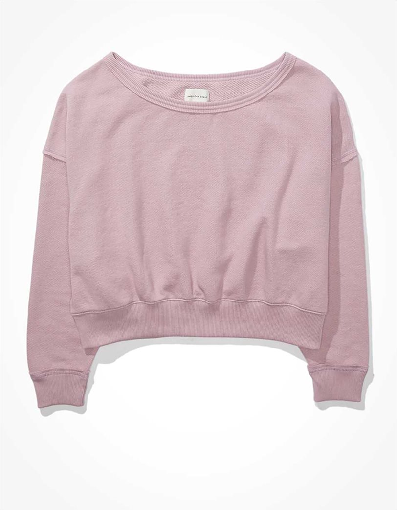 AE Forever Slouchy Cropped Crew Neck Sweatshirt 3