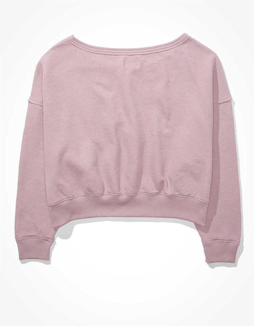 AE Forever Slouchy Cropped Crew Neck Sweatshirt 4