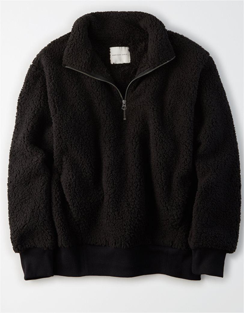 AE Fuzzy Sherpa Quarter Zip Sweatshirt 2