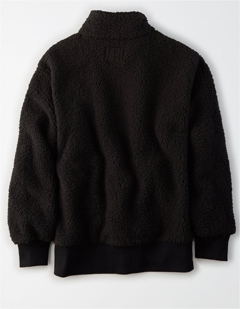 AE Fuzzy Sherpa Quarter Zip Sweatshirt 3