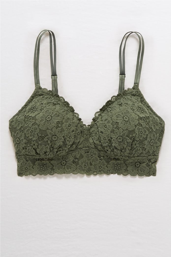 Aerie SoftestB® Lace Padded Strapless Bralette 0