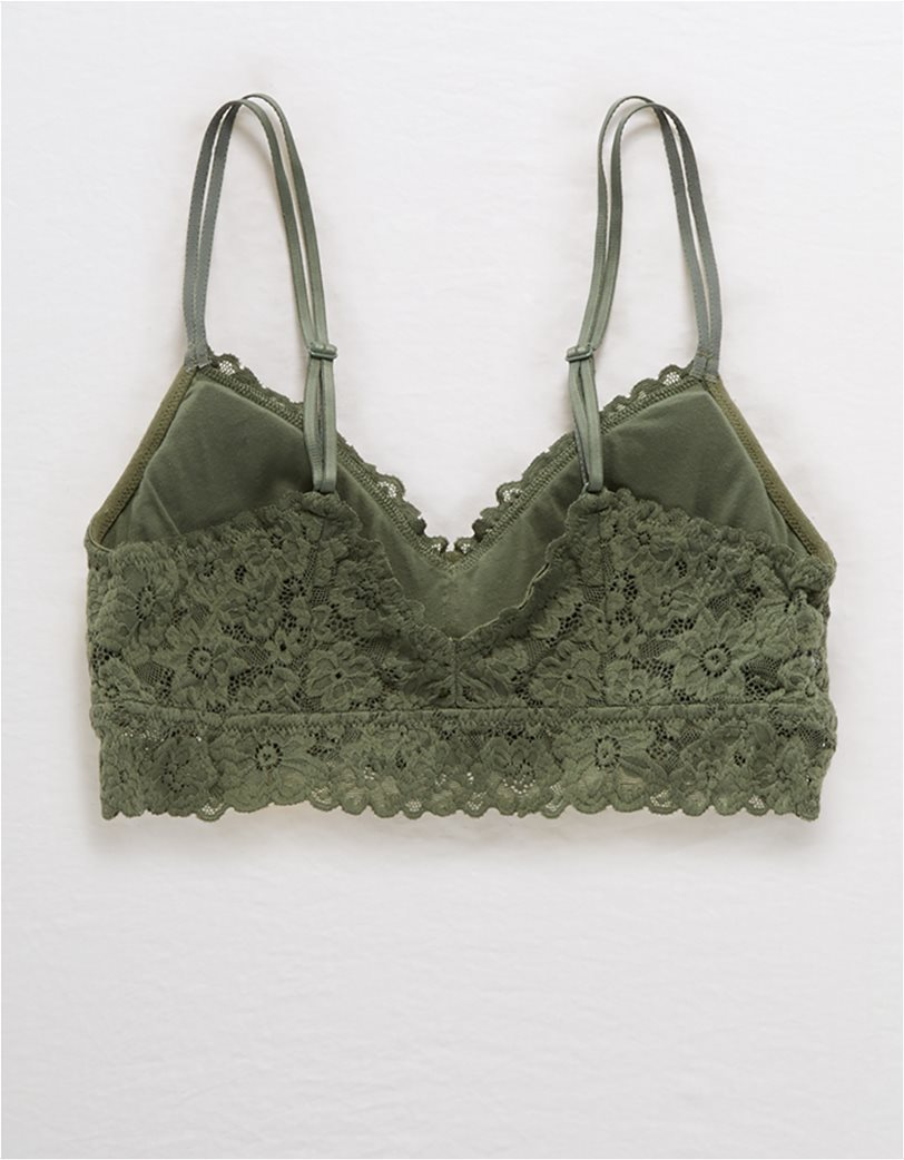 Aerie SoftestB® Lace Padded Strapless Bralette 1
