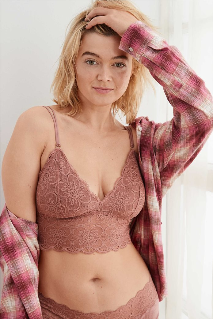 Aerie Endless Lace Padded Bralette 0