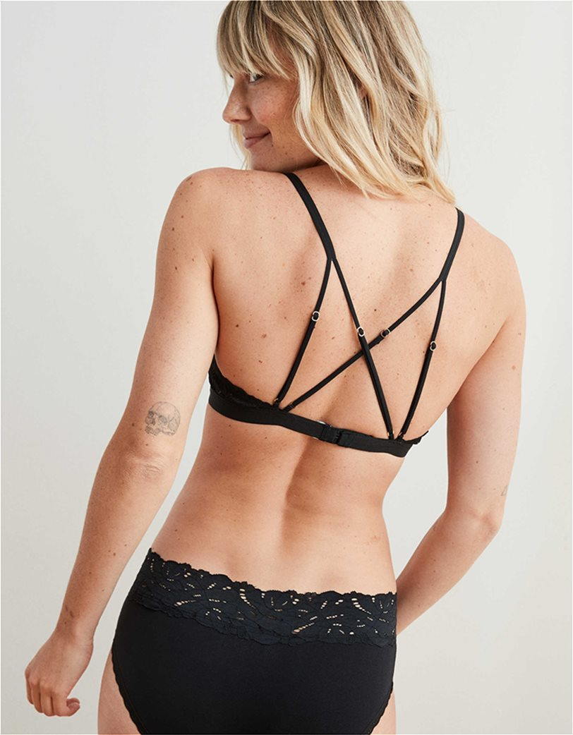 Aerie Palm Lace Plunge Padded Bralette 1