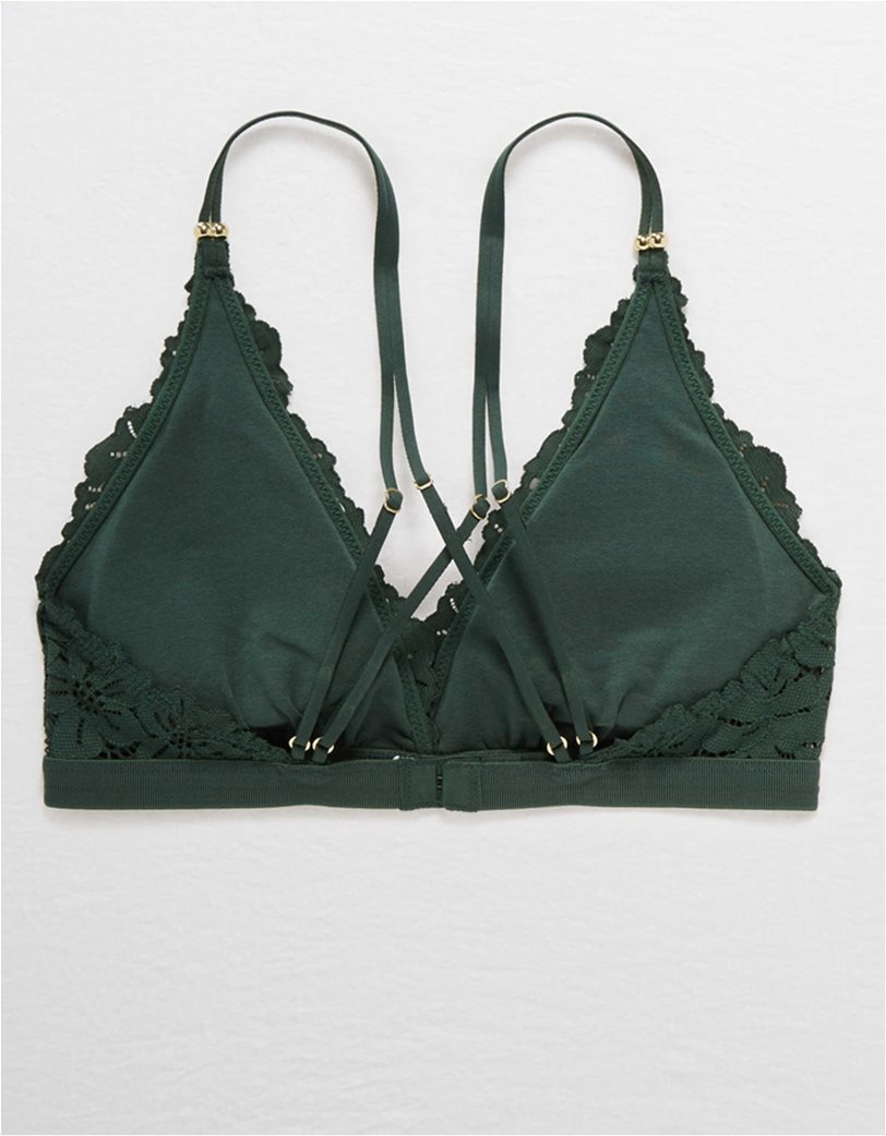 Aerie Palm Lace Plunge Padded Bralette 3