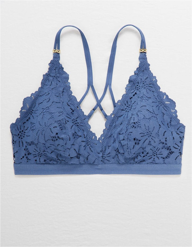 Aerie Palm Lace Plunge Padded Bralette 2