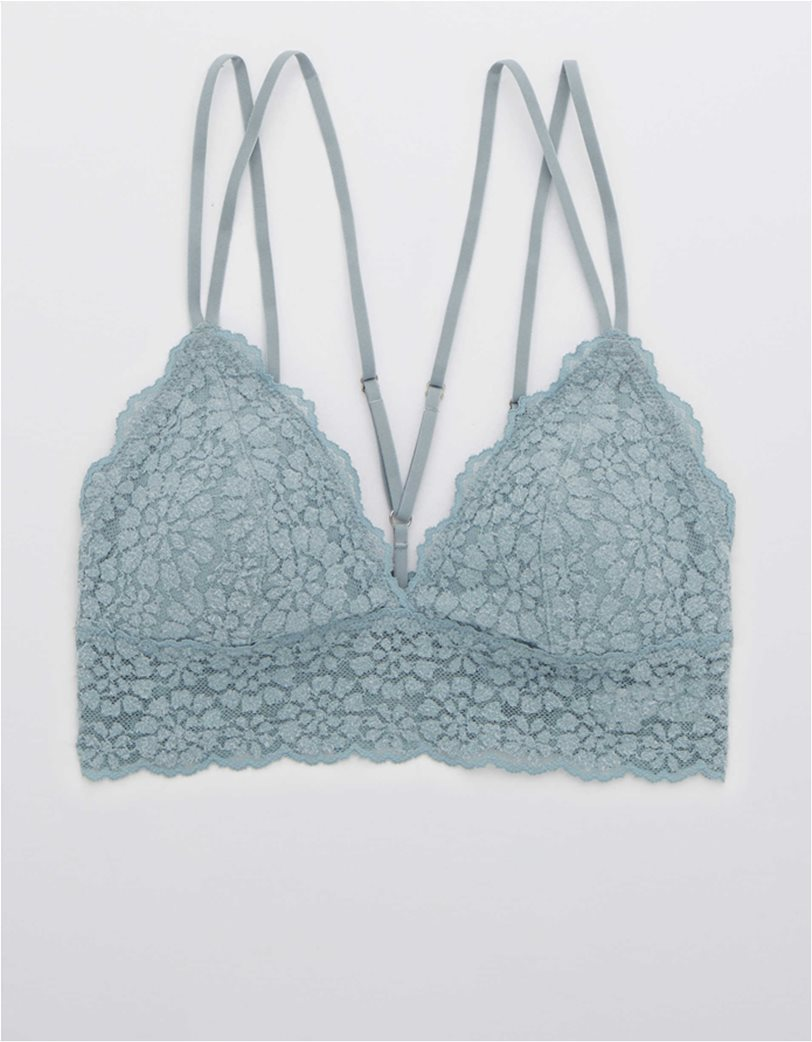 Aerie Sugar Cookie Lace Padded Strappy Bralette Γαλάζιο 2