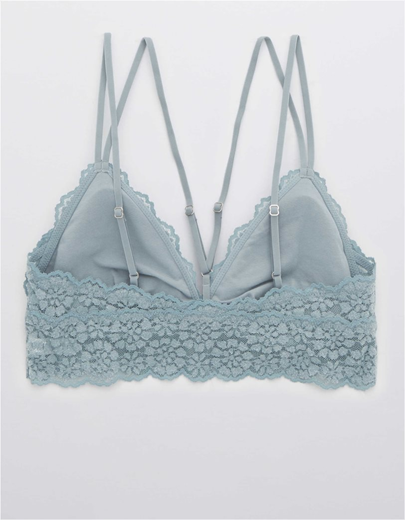 Aerie Sugar Cookie Lace Padded Strappy Bralette Γαλάζιο 3