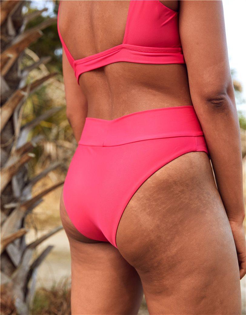 Aerie High Cut Cheeky Bikini Bottom Φούξια 1