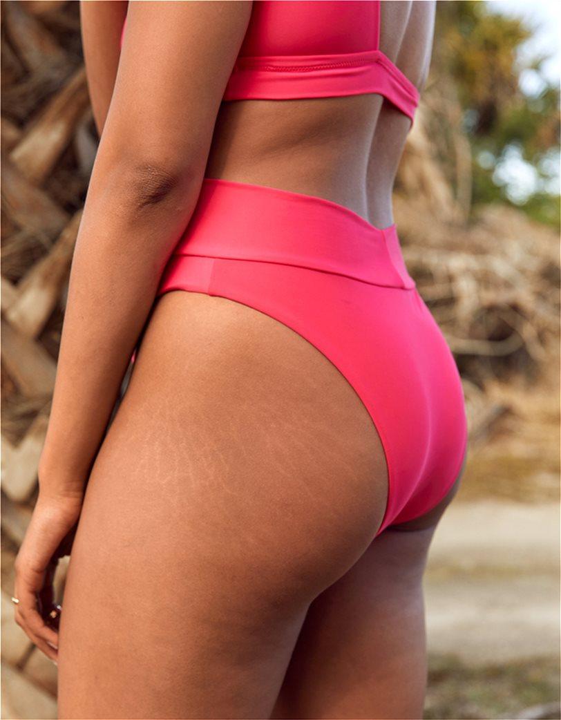 Aerie High Cut Cheeky Bikini Bottom Φούξια 2