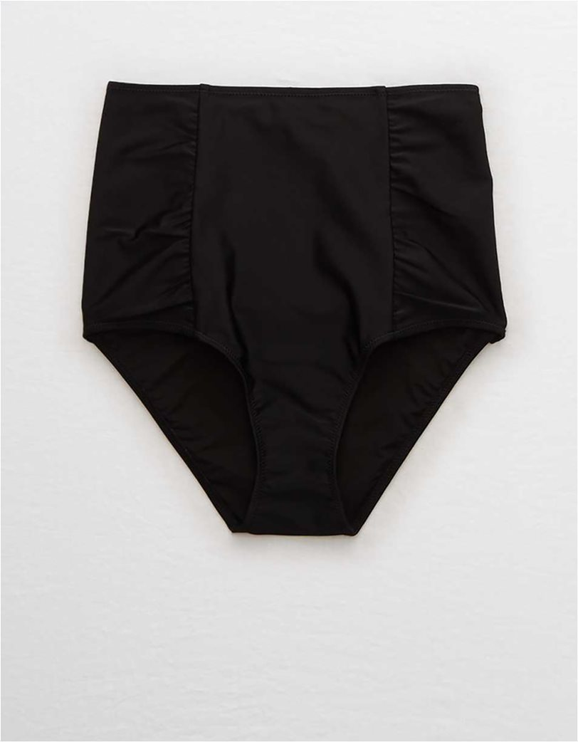 Aerie High Waisted Bikini Bottom Μαύρο 4
