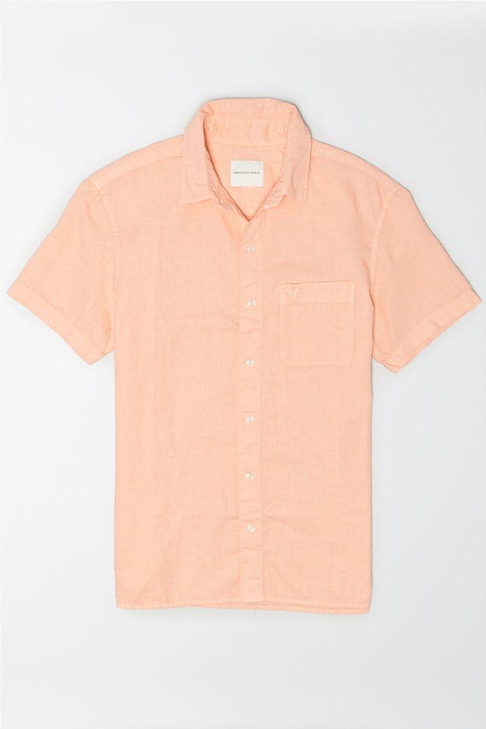 AE Linen Short-Sleeve Button-Up Shirt 0