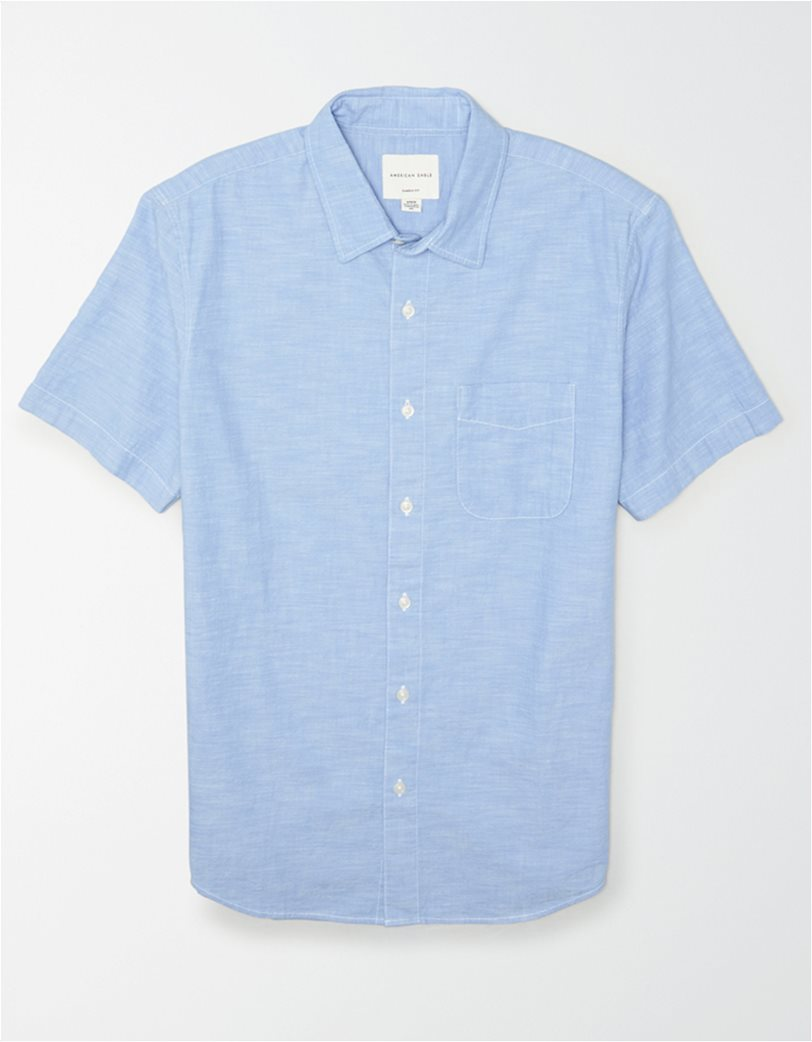 AE Chambray Short Sleeve Button-Up Shirt 2