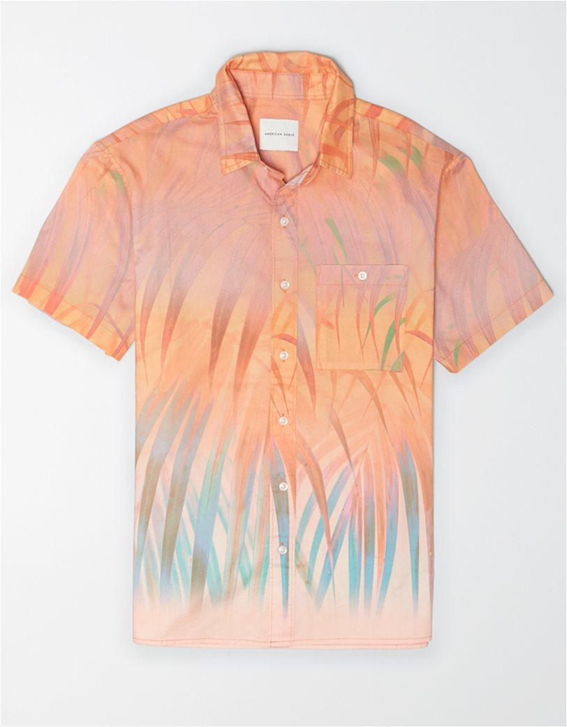 AE Tropical Print Short-Sleeve Button-Up Shirt 2