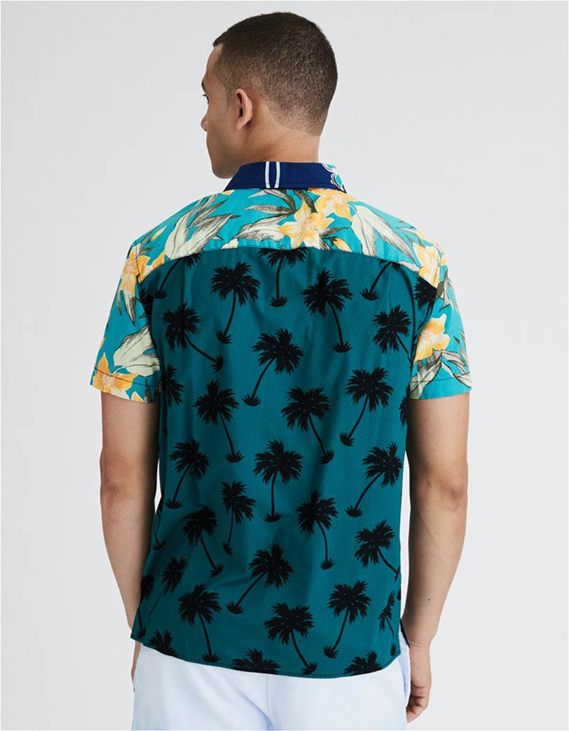 AE Tropical Patchwork Short-Sleeve Button-Up Shirt 1