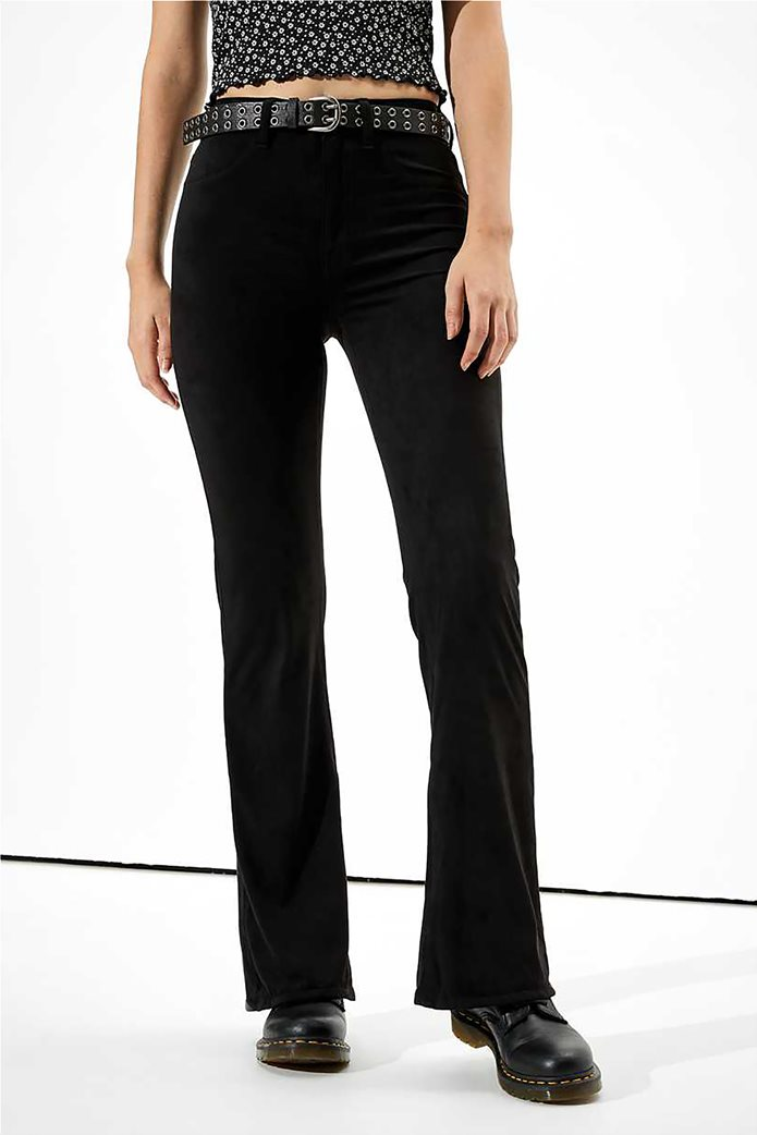 AE Super High-Waisted Suede Flare Pant 0