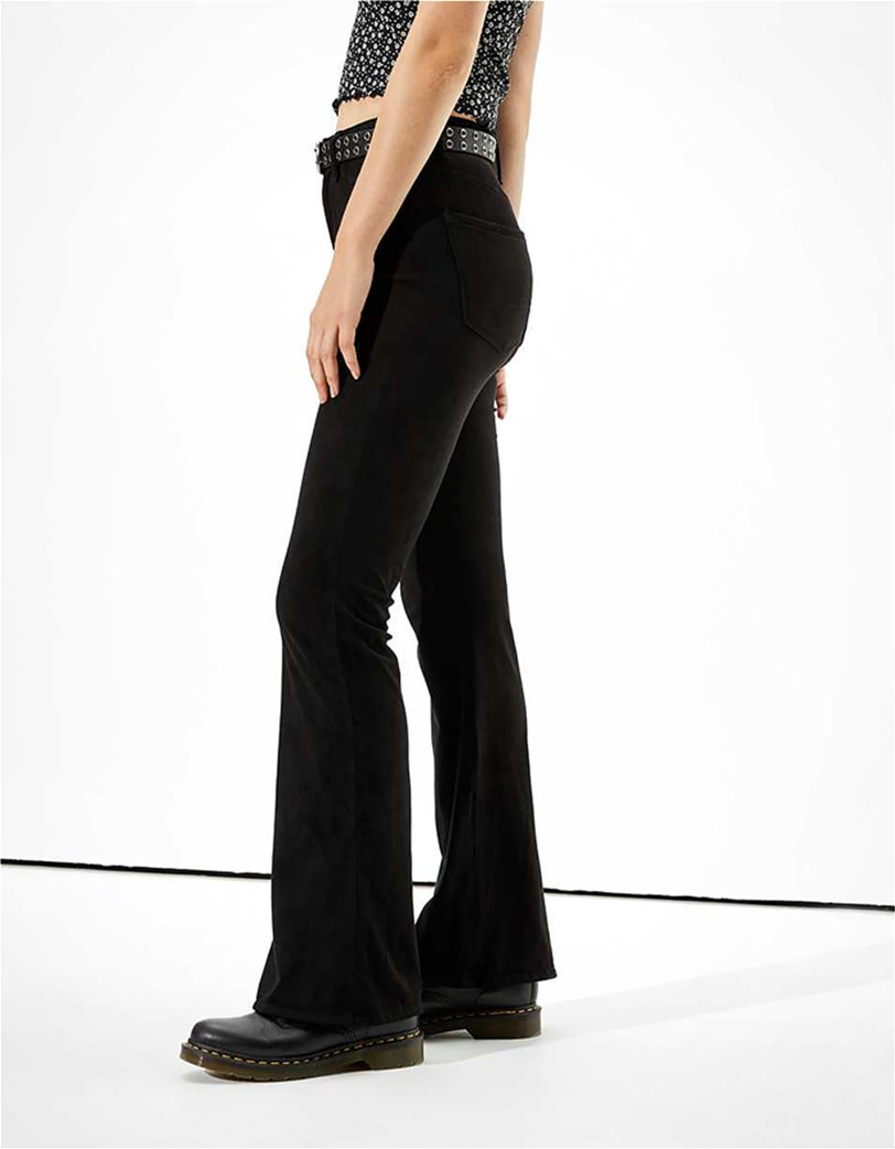 AE Super High-Waisted Suede Flare Pant 1