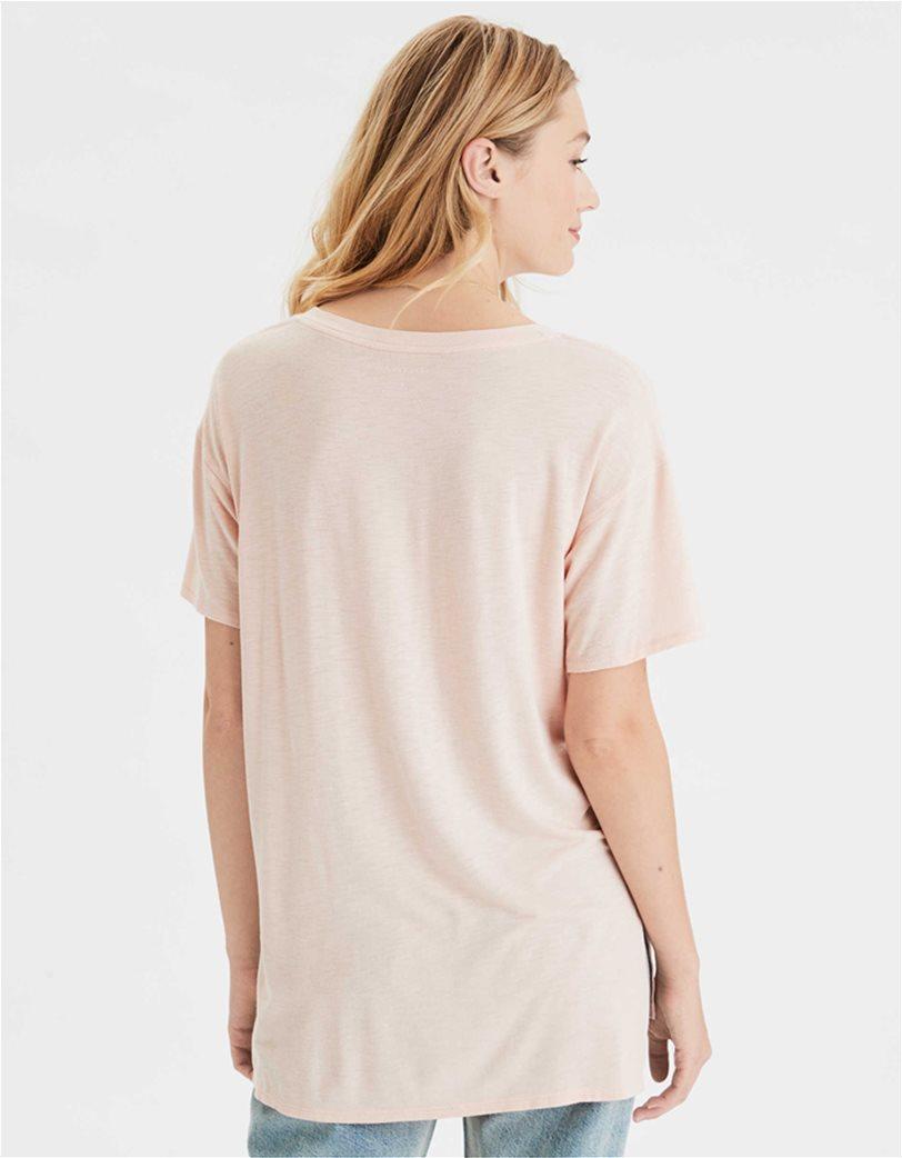 AE V-Neck T-Shirt Nude 1