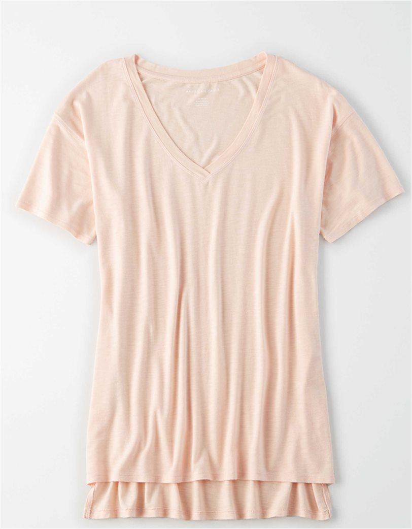 AE V-Neck T-Shirt Nude 2