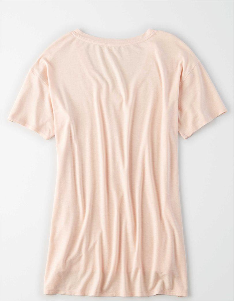AE V-Neck T-Shirt Nude 3
