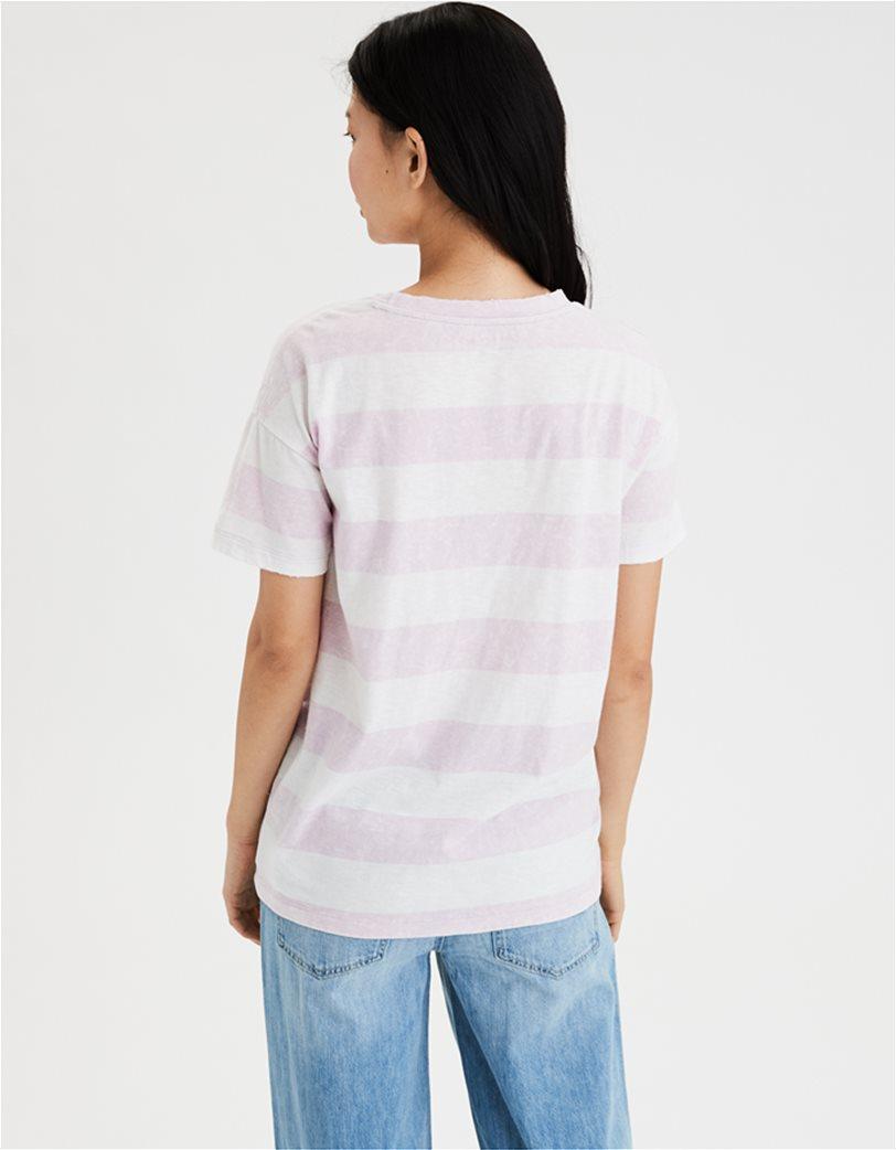 AE Crew Neck T-Shirt Λιλά 1