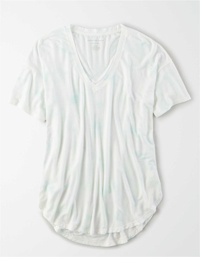 AE Soft & Sexy V-Neck T-Shirt Λευκό 2