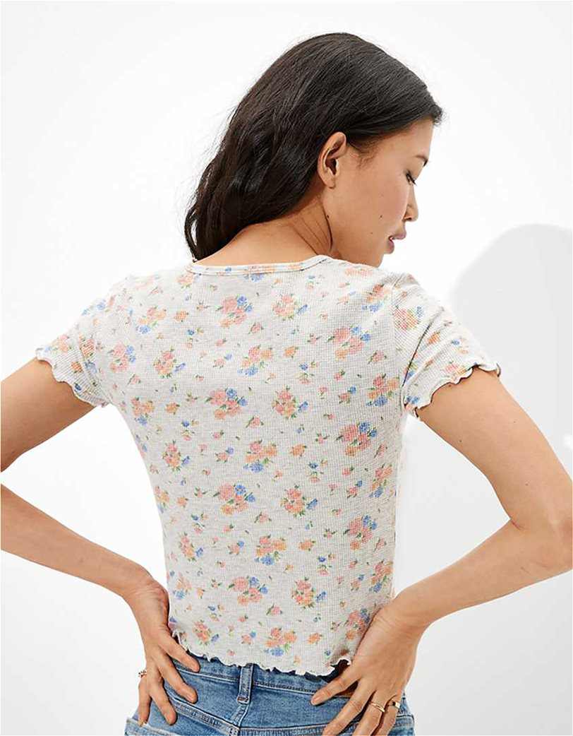 AE Floral Waffle Baby Tee 1