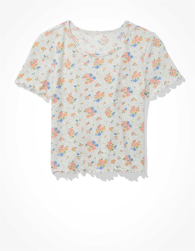 AE Floral Waffle Baby Tee 2