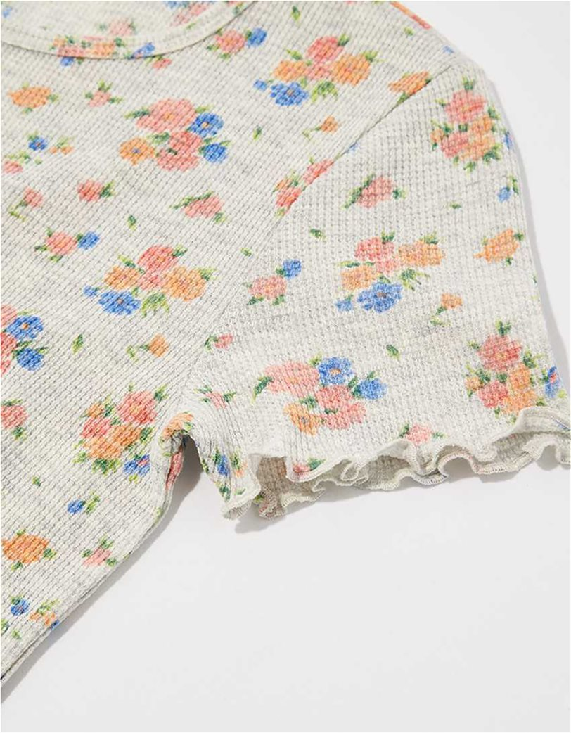 AE Floral Waffle Baby Tee 3