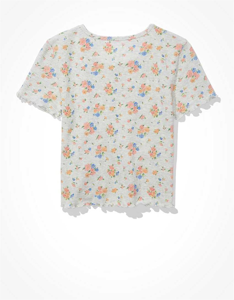 AE Floral Waffle Baby Tee 4