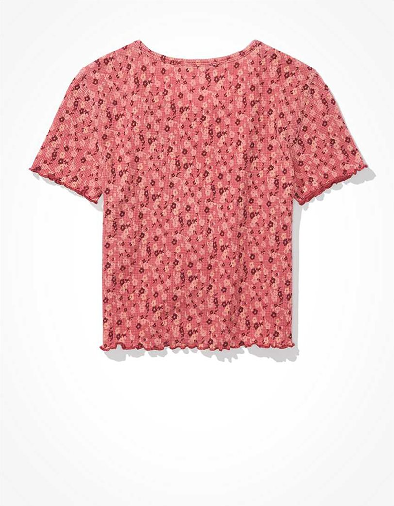 AE Floral Waffle Baby Tee 5