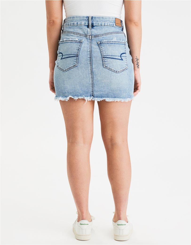AE Curvy High-Waisted Denim Mini Skirt 2