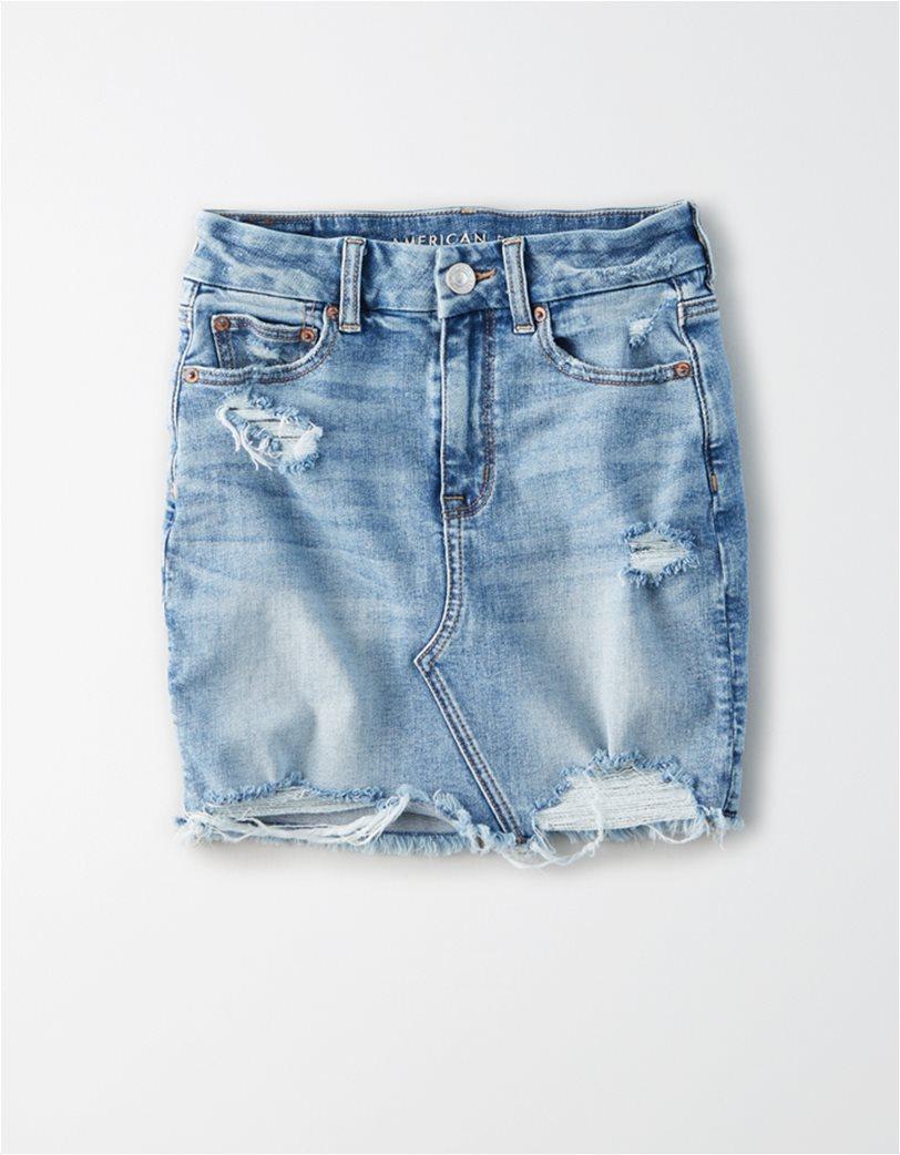 AE Curvy High-Waisted Denim Mini Skirt 3