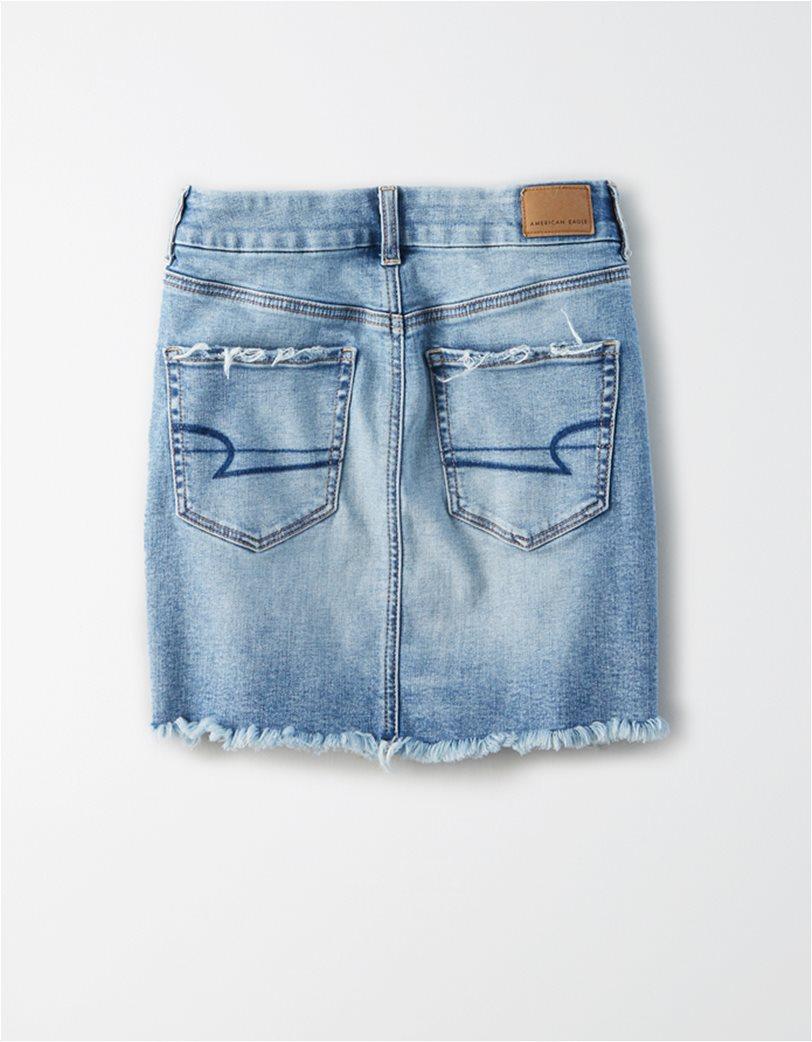 AE Curvy High-Waisted Denim Mini Skirt 4