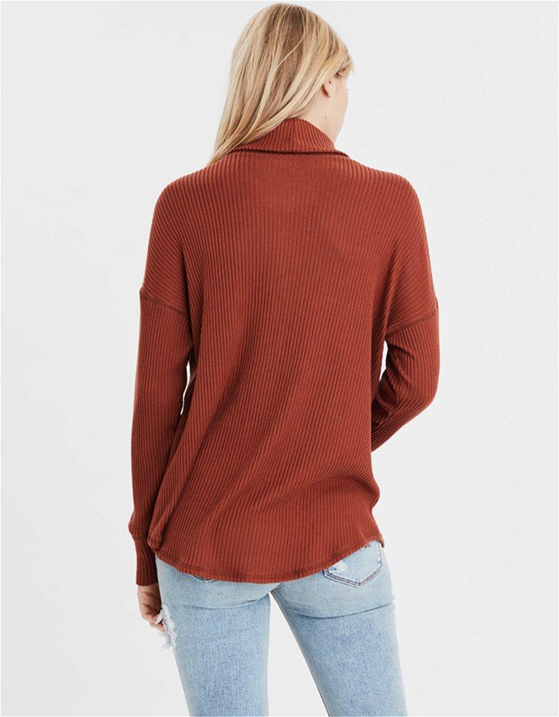AE Long Sleeve Turtleneck T-Shirt Κεραμιδί 1