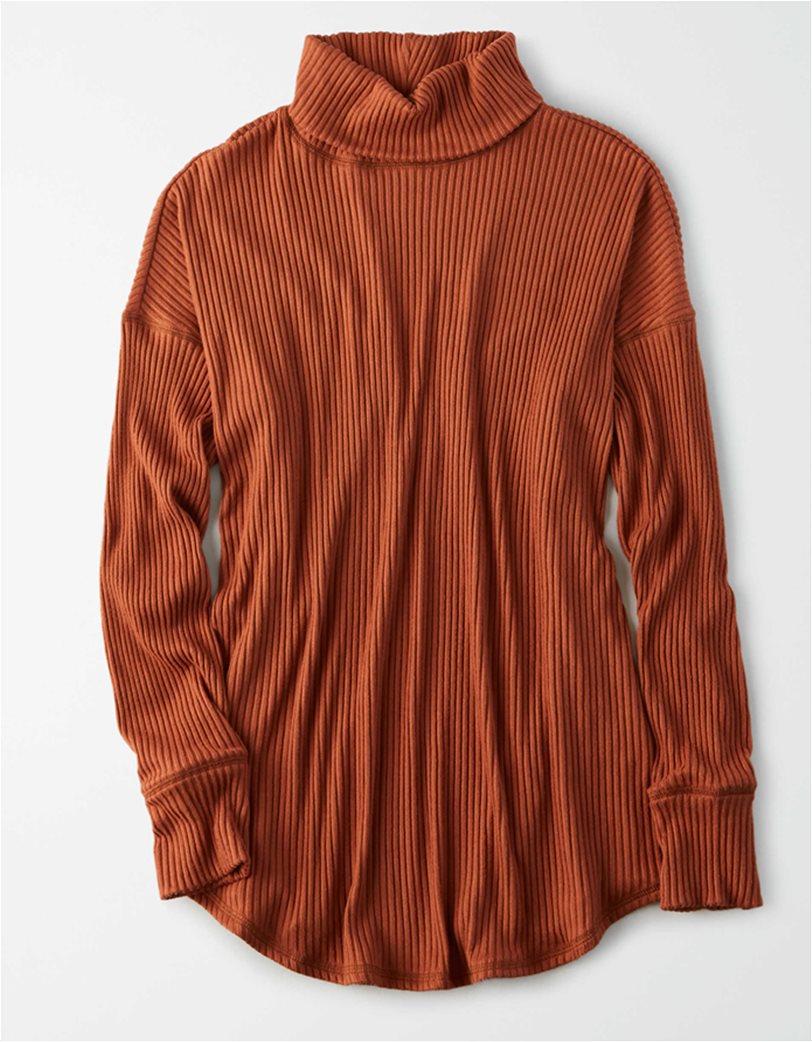 AE Long Sleeve Turtleneck T-Shirt Κεραμιδί 2